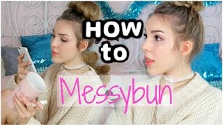 HOW TO MESSYBUN! 3 Dutts Ohne Tupieren! Deutsch