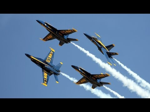 Blue Angels - F/A-18 Hornet at Los Angeles County Air Show 2014