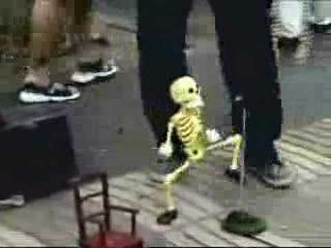 Dancing Skeleton Man video