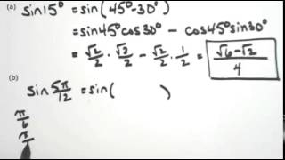 Sum and difference formulas for sine
