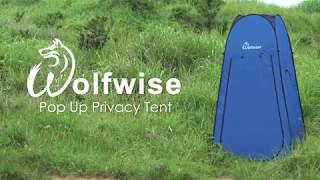 WolfWise Easy Pop Up Privacy Shower Tent Portable Outdoor Sun Shelter Camp Toilet Changing Room