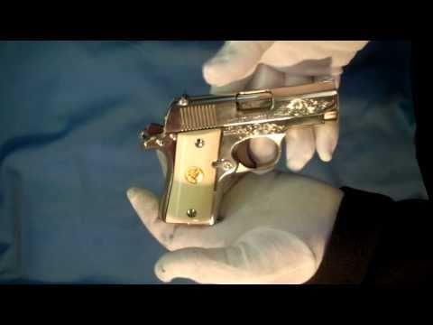 Colt Mustang .380 acp pistol Nickel w/Enamel Inlay revisited