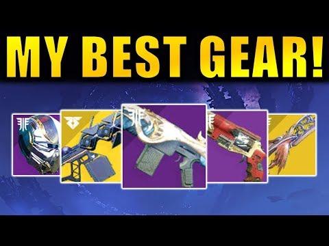 Destiny 2: MY BEST GEAR! - New Exotics! God Rolls! Best Perks! | Forsaken