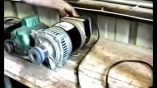 3000 Watt Generator Powers Itself, Grinder & Drill Press
