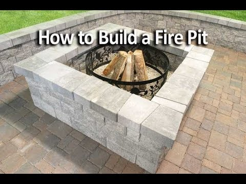 how to build a square fire pit youtube. Black Bedroom Furniture Sets. Home Design Ideas
