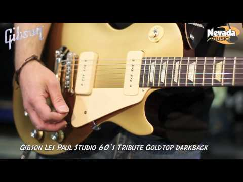 Gibson Les Paul Studio Tribute 60's Gold Top Darkback Guitar Demo - Just£699 @ Nevada Music UK
