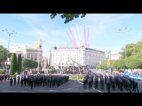 King Juan Carlos misses Spain's National Parade