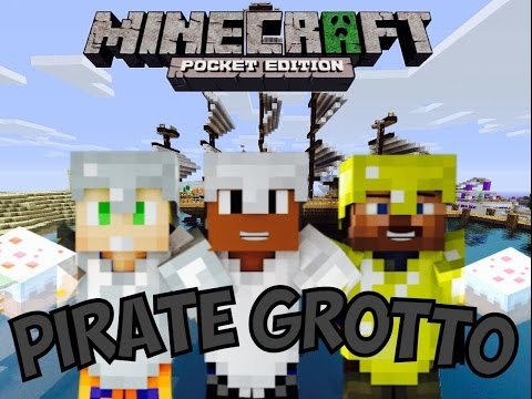 Minecraft PE Pirate Grotto part 2 man.... We cheat XD