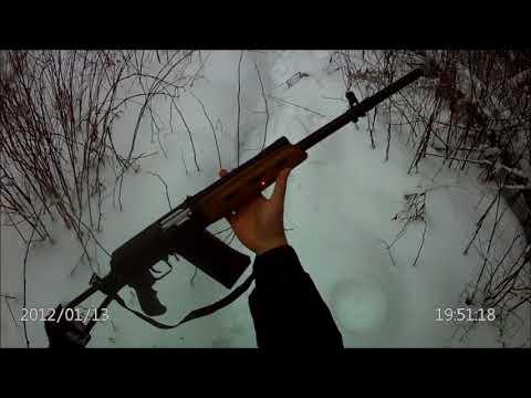 Стрельба из Сайги12к с удлинителем ствола
