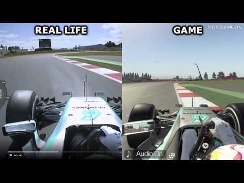 Real Life vs F1 2015 - Silverstone Comparison