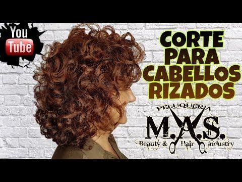 Corte de Pelo para cabello rizado .Curly Hair, Haircut step by step. Hair Tutorial.