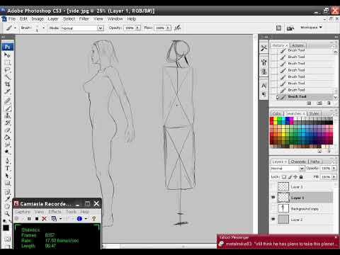 Drawing the female body 7--the side view