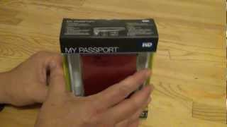 1TB My Passport USB Hard Drive Unboxing-My New One