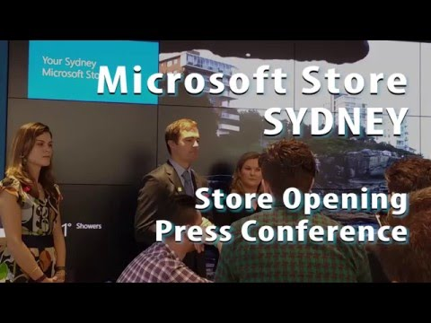 Microsoft Store SYDNEY  - Grand Opening Press Conference
