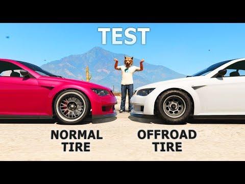GTA V - Normal tires vs Offroad tires