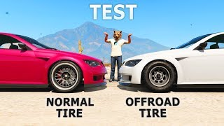 GTA V - Normal tires vs Offroad tires