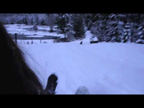 Winter Storm  Sledding in Washington State