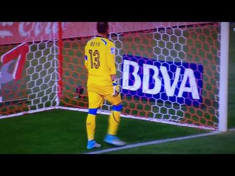 Primer gol de Raúl Jiménez Atlético de Madrid vs Sevilla 4 0 Liga BBVA