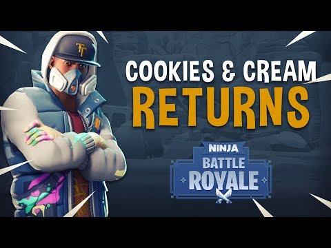 Cookies N Cream Returns! - Fortnite Battle Royale Gameplay - Ninja & Myth