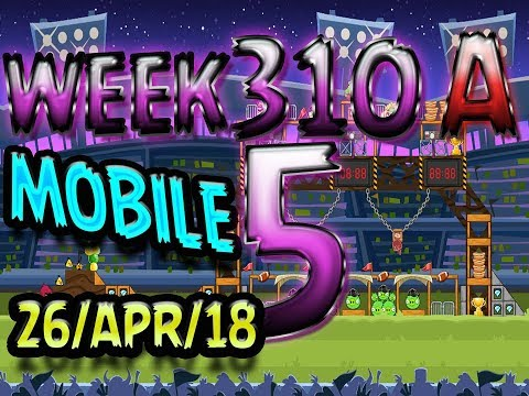 Angry Birds Friends Tournament Level 5 Week 310-A  MOBILE Highscore POWER-UP walkthrough