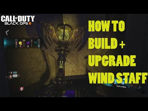 ORGINS - WIND STAFF BUILD + UPGRADE TUTORIAL GUIDE (Black Ops 3 Zombies Chronicles)
