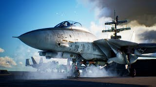 INSANE JET DOG FIGHT IN MOUNTAINS | Ace Combat 7 Skies Unknown | PS4 | Mission #7 F-14 Gameplay