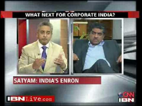 Satyam Computer disaster Nandan Nilekani ,Rajdeep Sardesai ,Anand Mahindra,Narayana Moorhty CNN IBN