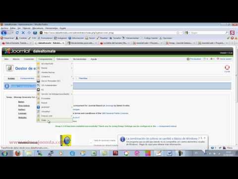 P1.Añadir sitemap a google: Generar sitemaps con xmap en joomla