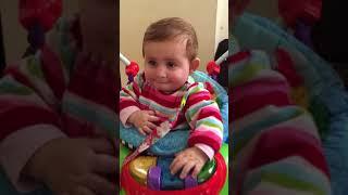 Funny baby dancing
