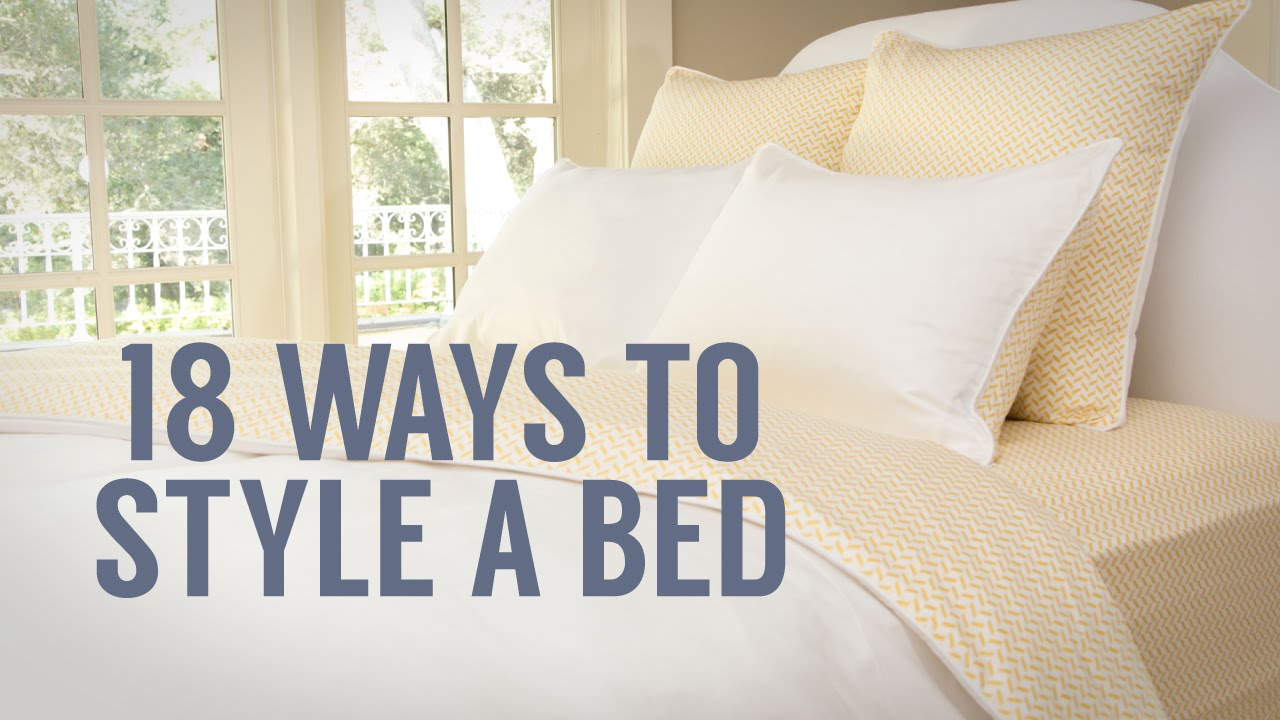 How to style a bed 1 bed 18 ways youtube