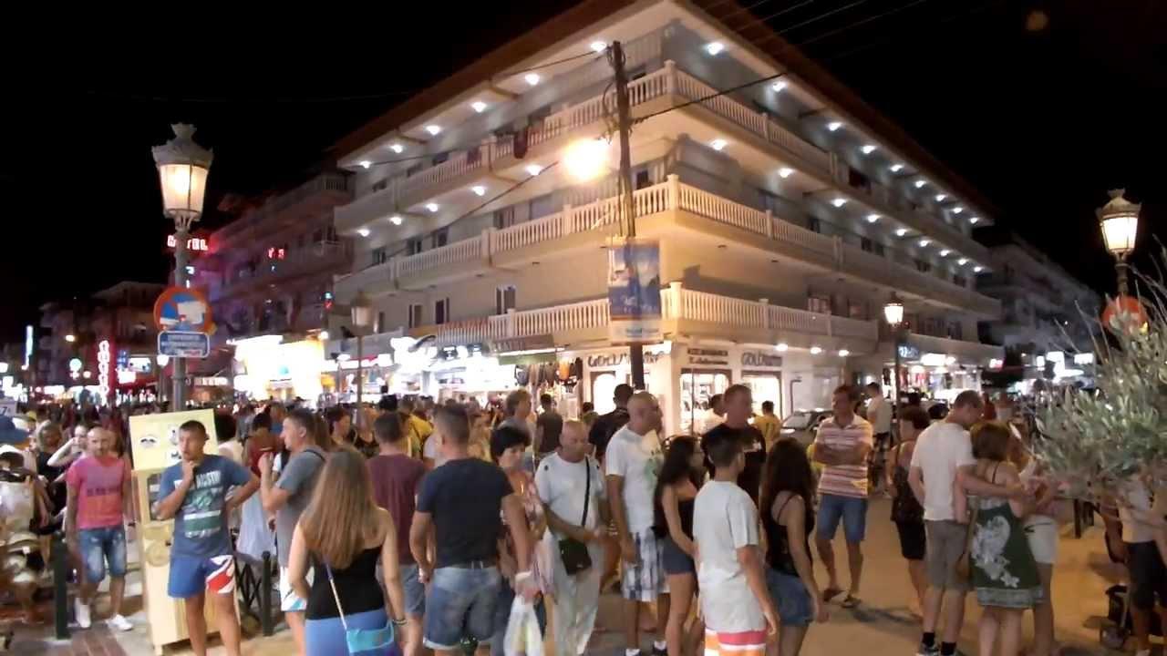 Paralia Greece Night Paralia at Night 2013 07