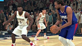NBA 2K20 Gameplay - New Orleans Pelicans vs Los Angeles Clippers - NBA 2K20 PS4