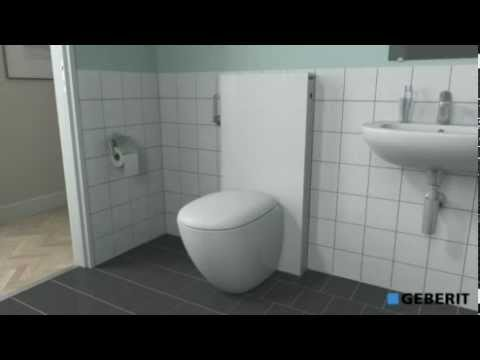 How to install a geberit monolith wall hung wc toilet for Geberit installation system
