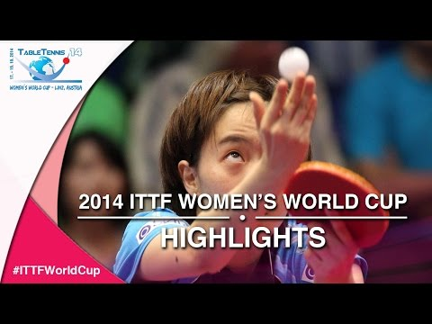 2014 ITTF Women's World Cup   Match Highlights  Ishikawa Kasumi vs. Pota Georgina 3rd place