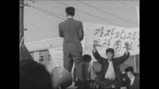 1960 Protest Demonstration April Revolution South Korea Seoul Protesters Protesting Signs Collection