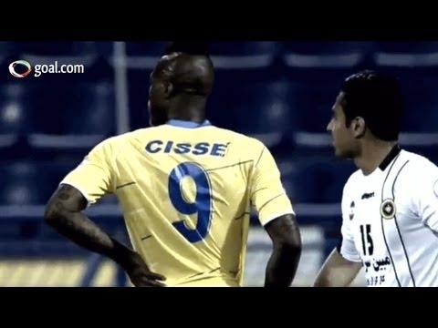 Djibril Cisse scores twice for Al Gharafa - AFC Champions League