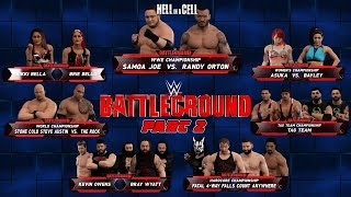 wwe2k Universe Mode I The Reality Era (Battleground 2 PPV) Part 2