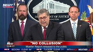 FULL COVERAGE: Mueller Report No Collusion On President Trump
