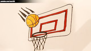 How to draw a basketball hoop