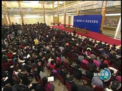 温家宝 Wen Jiabao 会见中外记者并回答提问