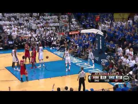 NBA Playoffs 2013: NBA Houston Rockets Vs Oklahoma City Thunder Highlights April 24, 2013 Game 2