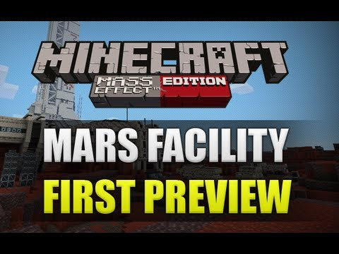 Minecraft Xbox 360 Mass Effect Mash Up Pack First Preview (Mars Facility)