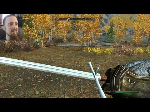 Want to run around with some of my swords in Skyrim? There's a mod for it!