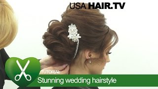 Stunning wedding hairstyle. parikmaxer TV USA