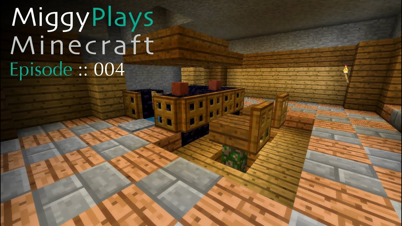 Miggy Plays Minecraft -- Episode 004: Dat Bar Stool! - YouTube