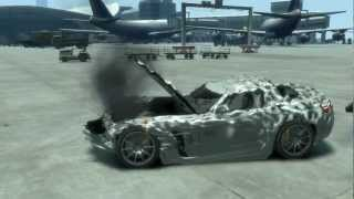 GTA IV PC MERCEDES SLS AMG 2011 CRASH TESTING CAR MOD HD 720p