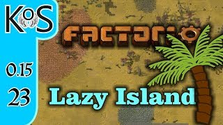 Factorio 0.15 Lazy Bastard Achievement Ep 23: BLUE SCIENCE HURRAH! - Lazy Island, Let's Play