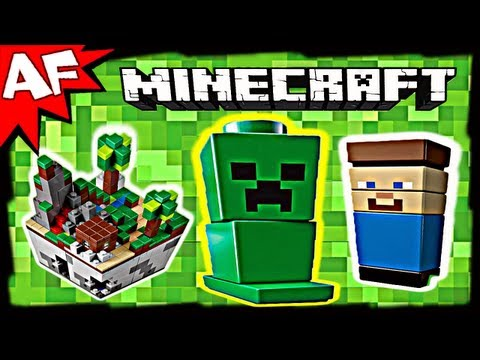Lego Minecraft MICRO WORLD 21102 Animated Short & Building Review