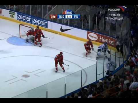 ЧМ по хоккею 2008. 1/2 финала. Россия - Финляндия