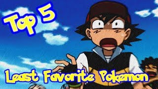 JPRPT98's Top 5 Least Favorite Pokemon